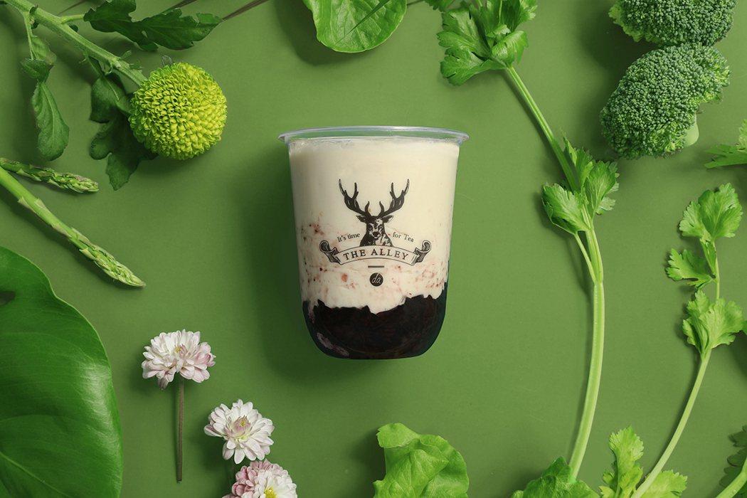 白桃烏龍紫米酸奶。圖/鹿角巷提供