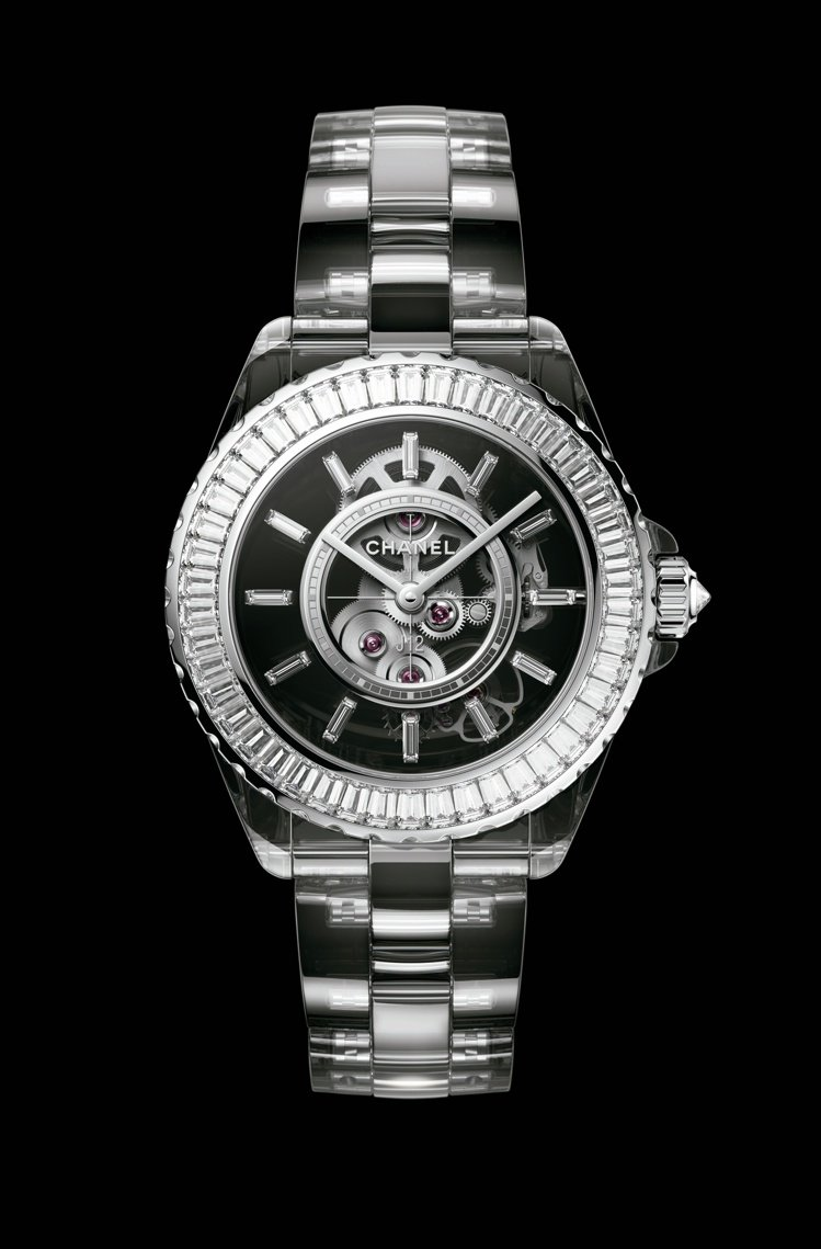J12 X-RAY腕表,藍寶石水晶表殼與鍊帶、Caliber 3.1手上鍊鏤空機...