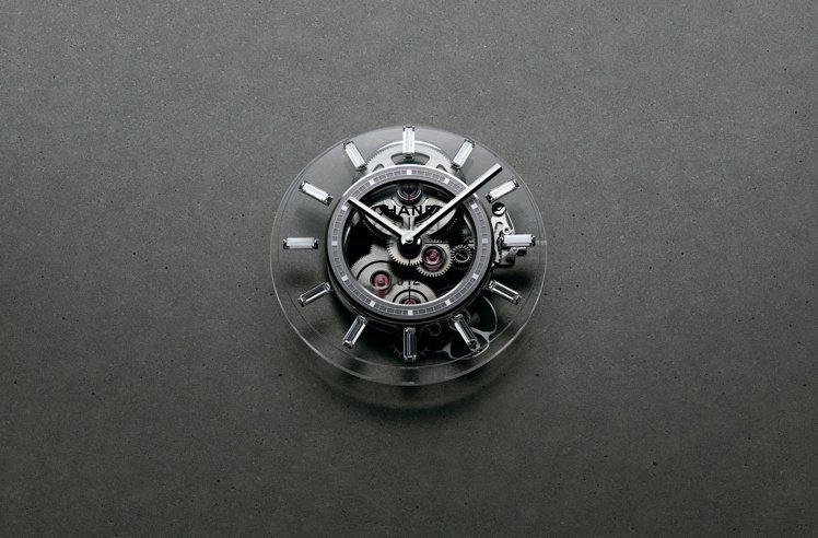 J12 X-RAY腕表,搭載Caliber 3.1手上鍊鏤空機芯,表盤也以通透的...