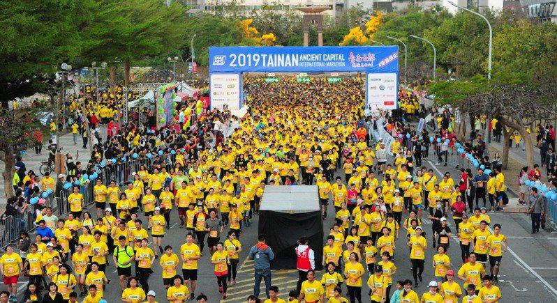 去年台南古都國際半程馬拉松盛況。圖/台南市教育局提供