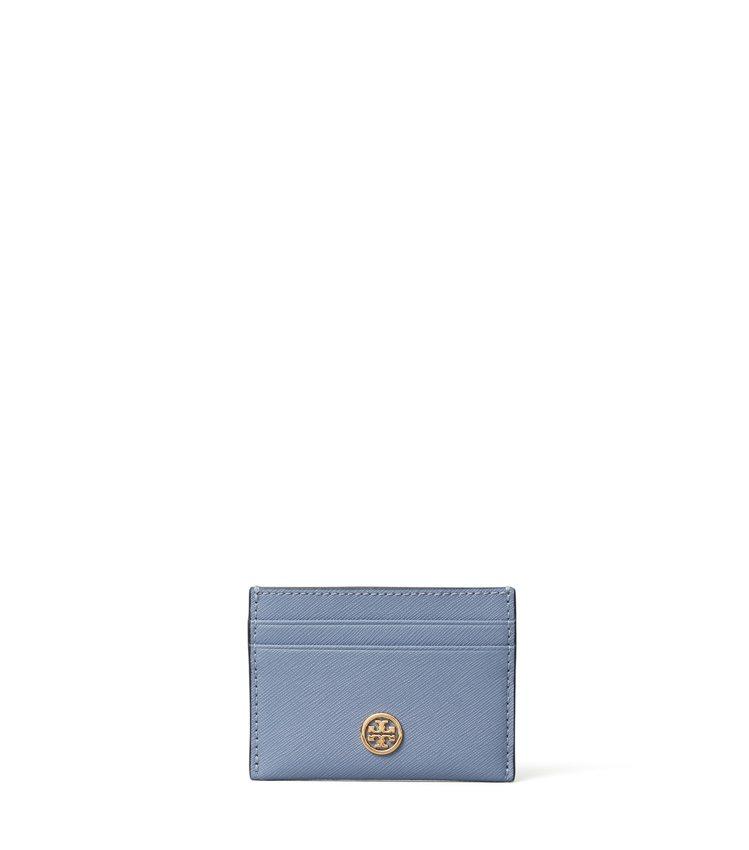 Robinson系列天空藍名片夾,2,990元。圖/Tory Burch提供