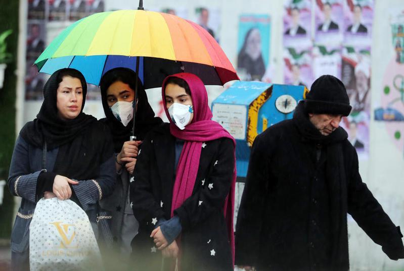 目前為止,伊朗確診病例累計有18起,死亡人數達到4人。 歐新社