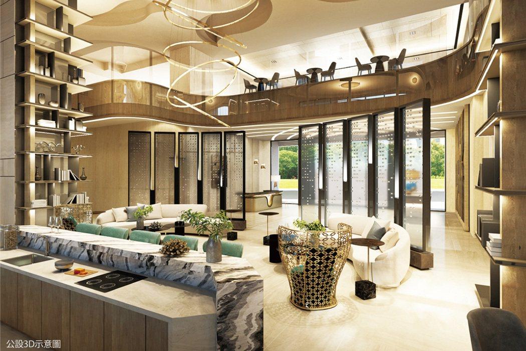 大廳以「Butterfly Lobby」為核心理念,夢幻鎏金意象十分吸睛。 圖/...