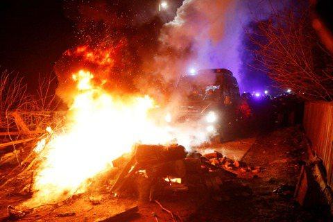 烏克蘭從武漢撤僑回來的民眾,20日前往小鎮新桑扎里(Novi Sanzhary)...