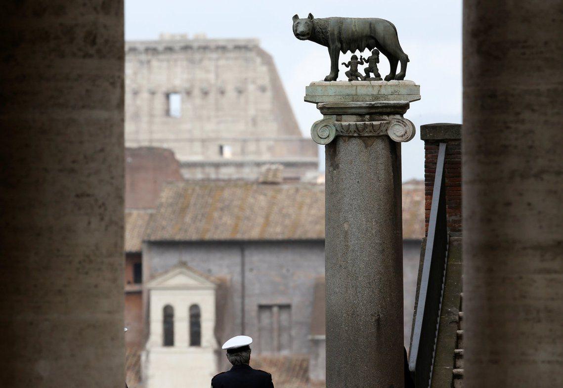 「比起羅穆盧斯到底存不存在,更重要的是:人們將他視為羅馬城的起源。」 圖/路透社