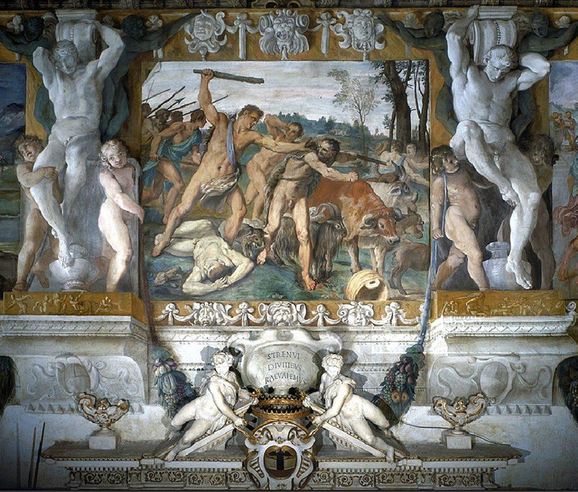 羅穆盧斯打跑偷羊賊。傳雙兩兄弟受窮人和其他牧人的熱愛,但是討厭國王的軍官和官吏。...