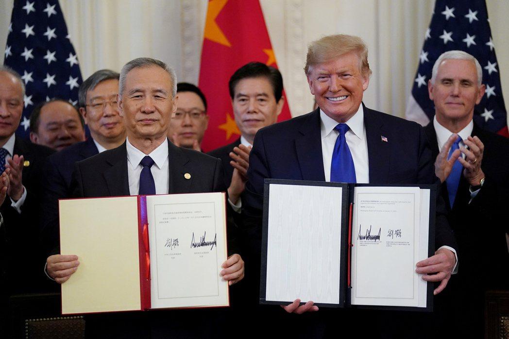 美方官員預期,中國大陸會兌現貿易協議的承諾。  路透