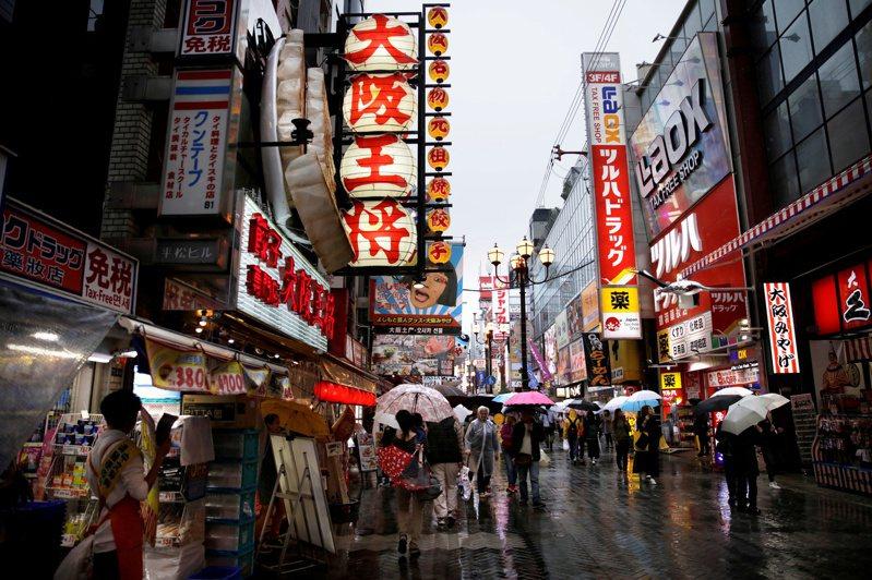 日本大阪購物街區。  路透