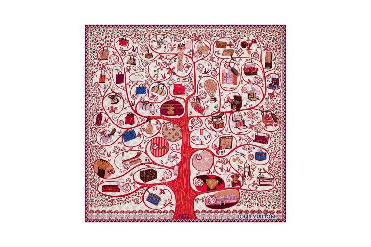 Tree of Louis方巾,售價17,000元。圖/LV提供