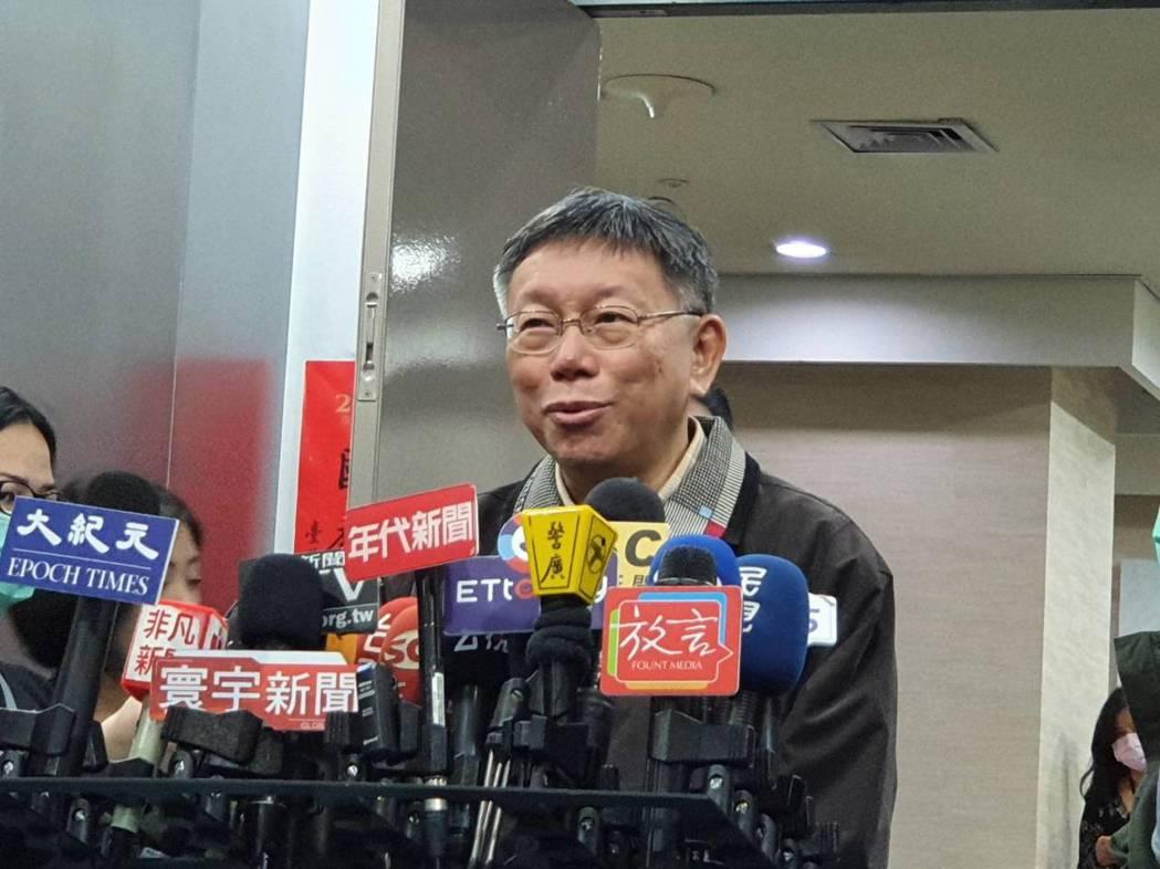 台北市長柯文哲上午受訪。 記者楊正海/攝影