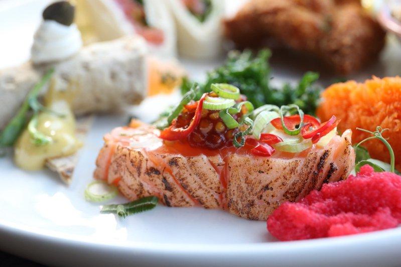 挪威的鮭魚料理。記者陳睿中/攝影
