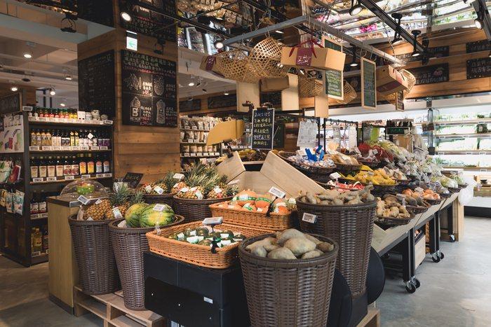 有機生鮮超市「心樸市集」。圖/京站提供