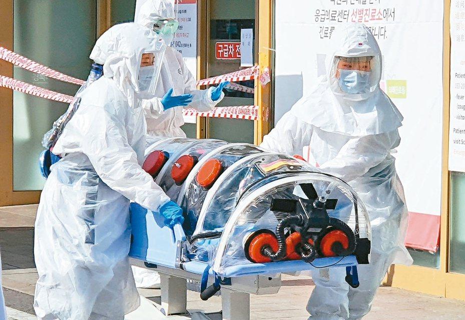 南韓中央防疫對策本部21日下午宣布,新增48例新冠肺炎確診。歐新社