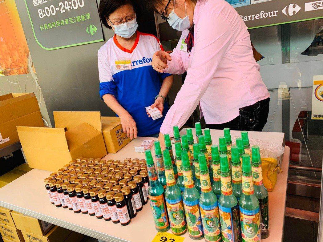 台糖75%清潔用酒精50ml於21日在全台136家分店家樂福(包括量販店和便利購...