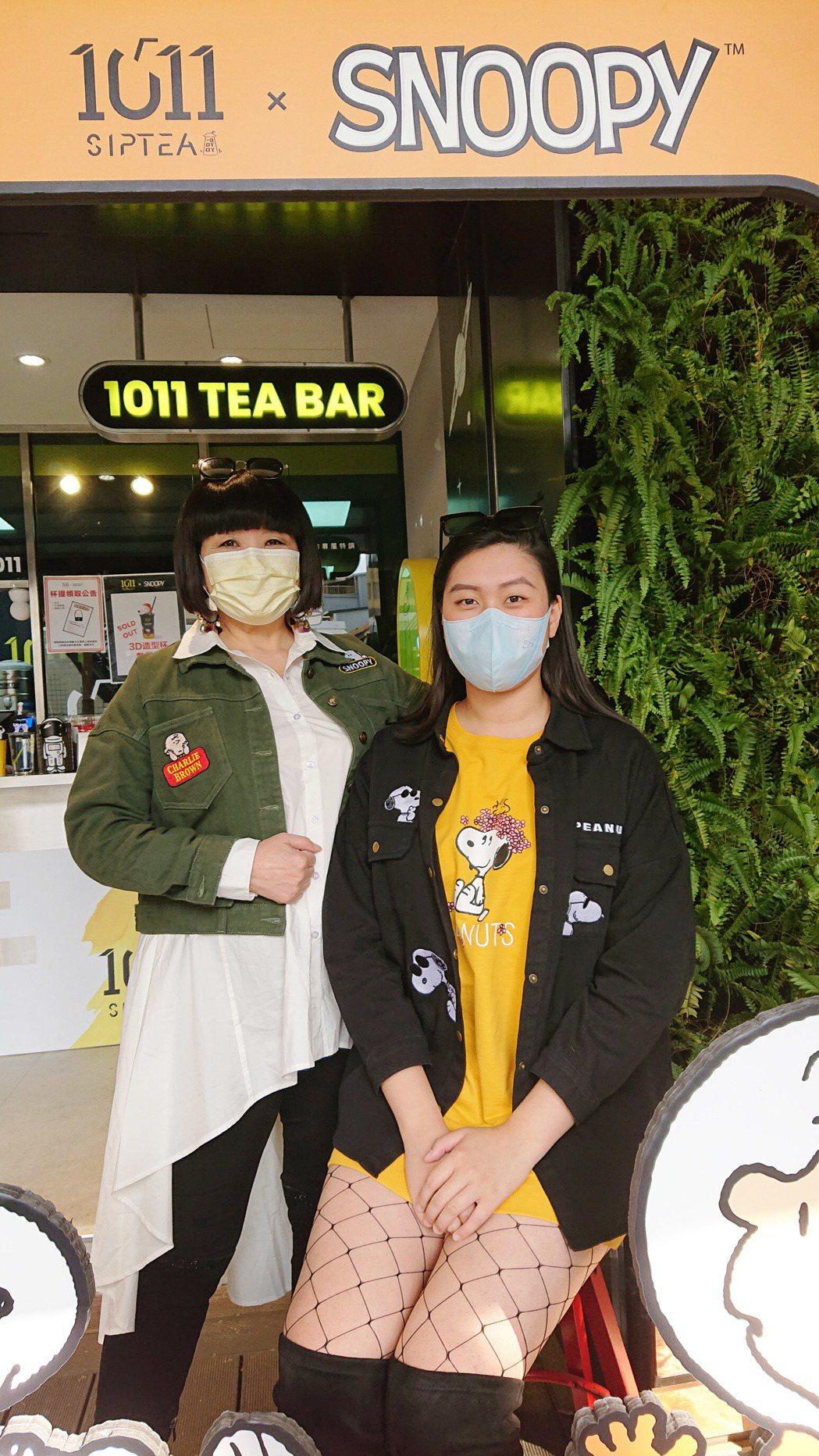 大百合(左)和名模女兒宋翊萱受邀擔任人氣飲品宣導大使。圖/1011 SIP Te...