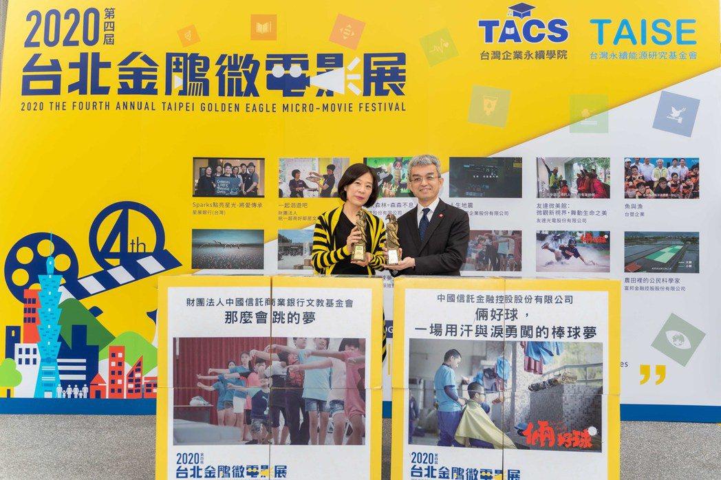 中國信託以《倆好球》、《那麼會跳的夢》勇奪「2020第四屆台北金鵰微電影展」十項...