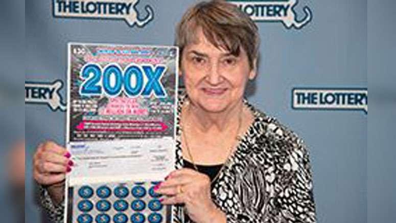強運女子琳達,中了兩次大獎。 圖/Boston news