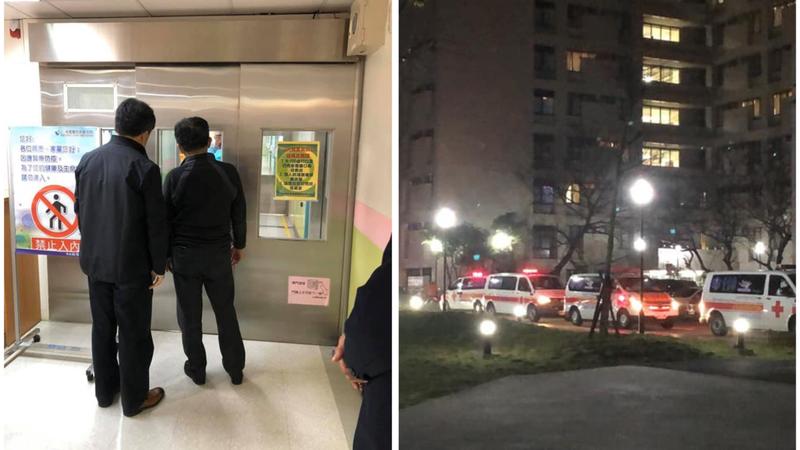 陳時中緊盯隔離病房的背影,感動眾人。圖/Facebook