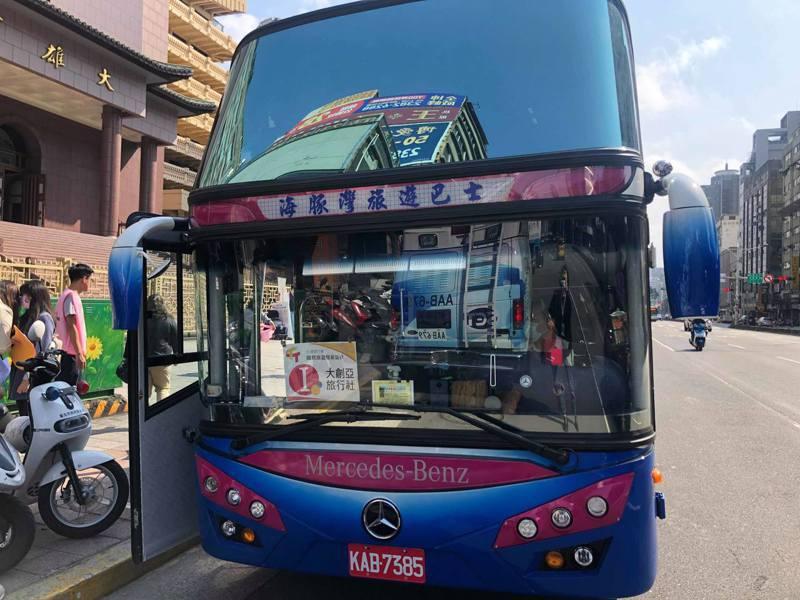今天共有13輛遊覽車參與。記者曹悅華/攝影