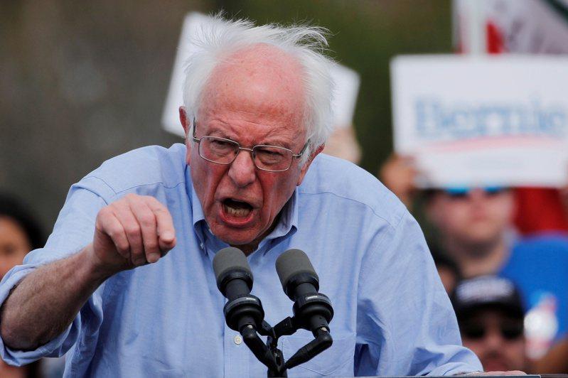 美國情報指出,俄羅斯已插手美國2020大選,幫助領先的民主黨參選人桑德斯。圖為桑德斯在加州競選。(路透)