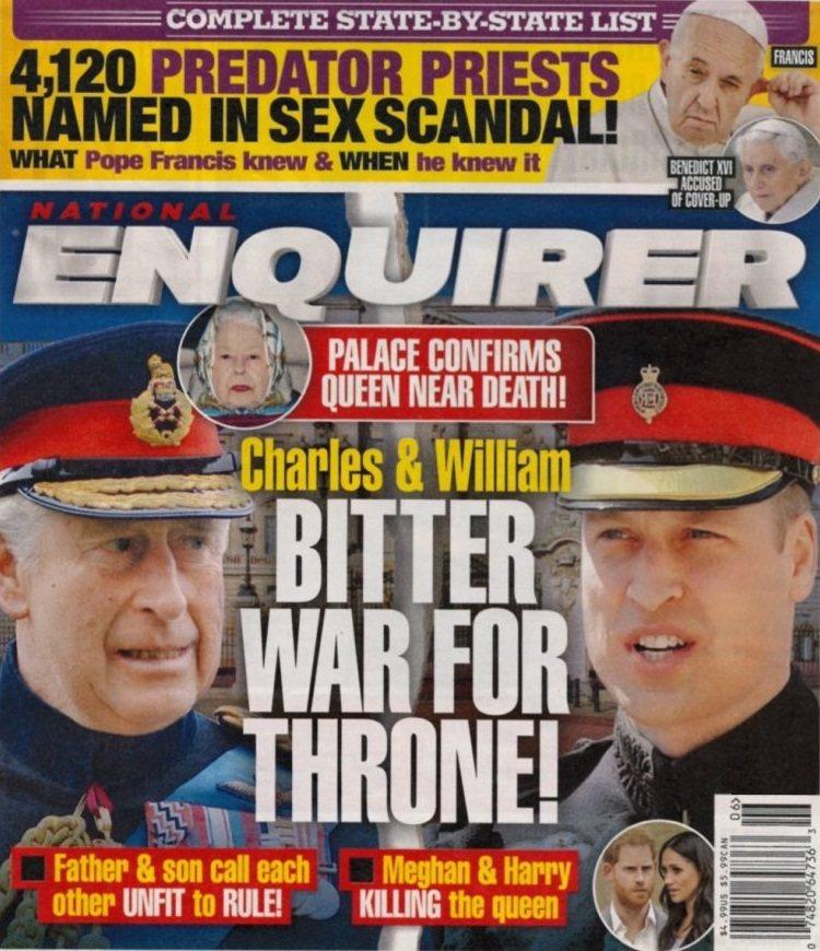 查爾斯王子與威廉王子被傳為爭皇位、明爭暗鬥。圖/摘自National Enqui