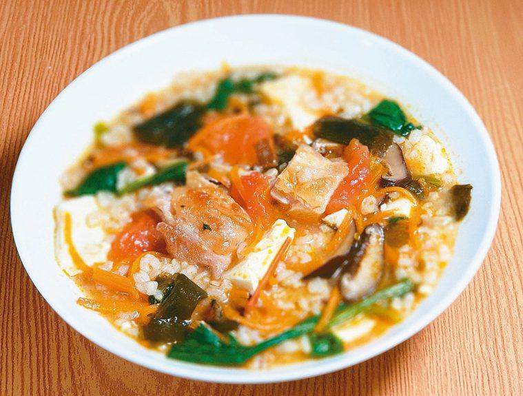 炸雞蔬菜味噌粥