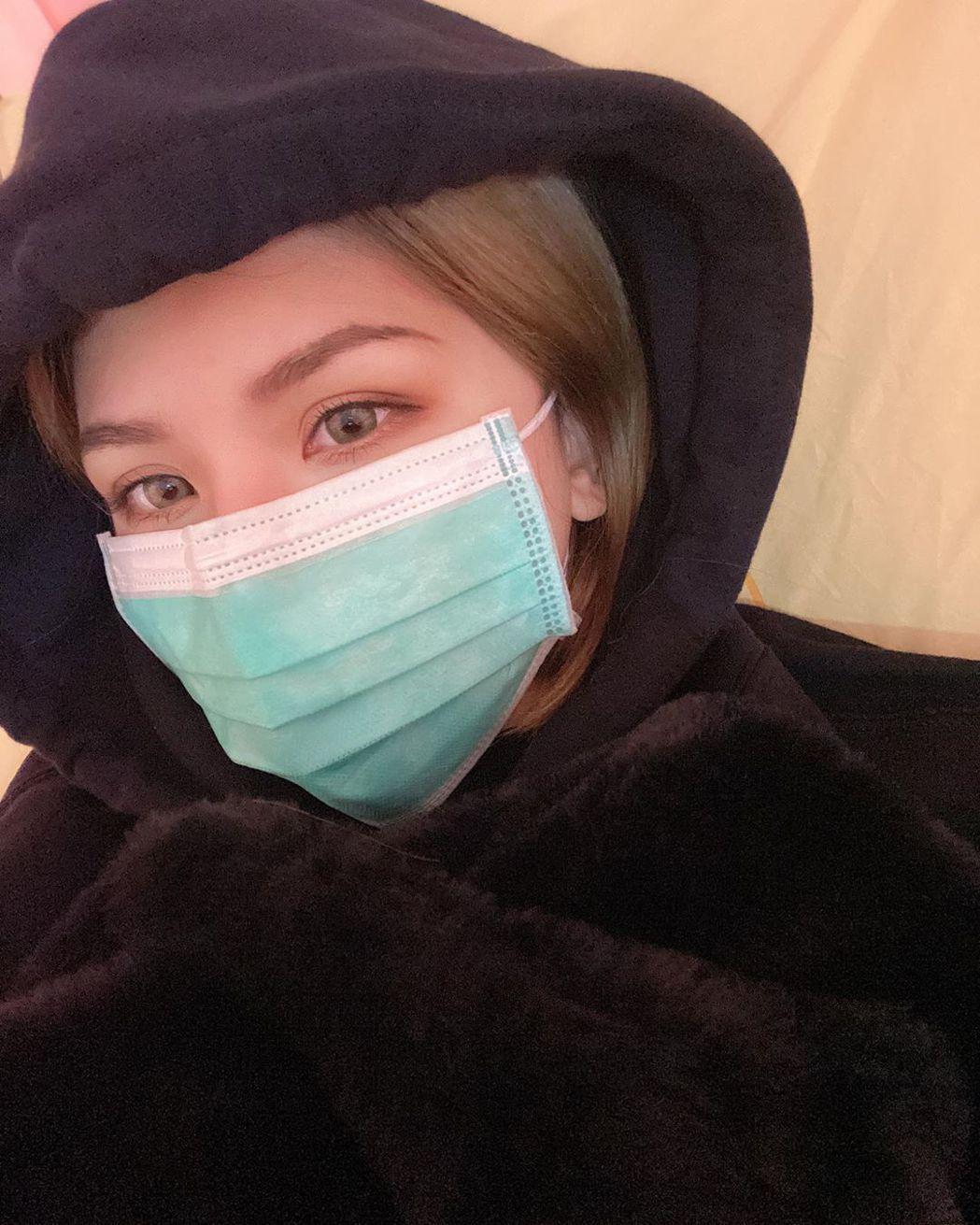 蕾菈生病發燒三天。 圖/擷自蕾菈IG