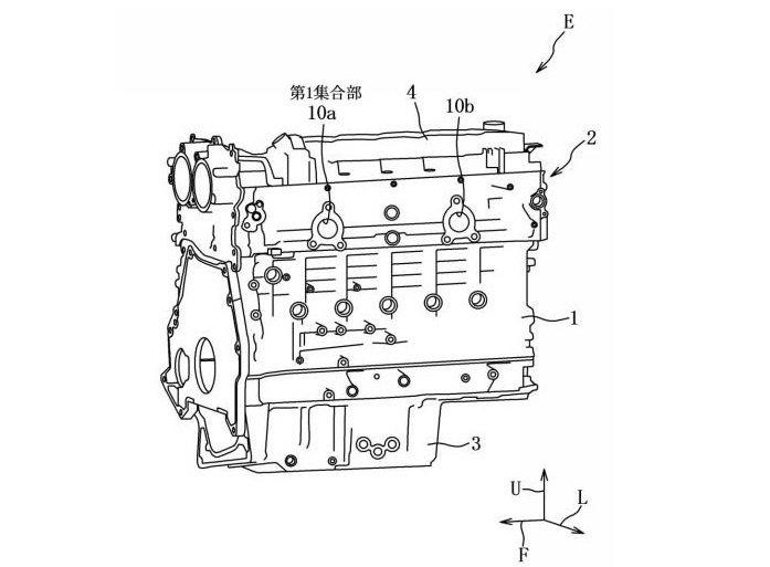 Mazda新型直六引擎專利圖流出。 摘自Motor1