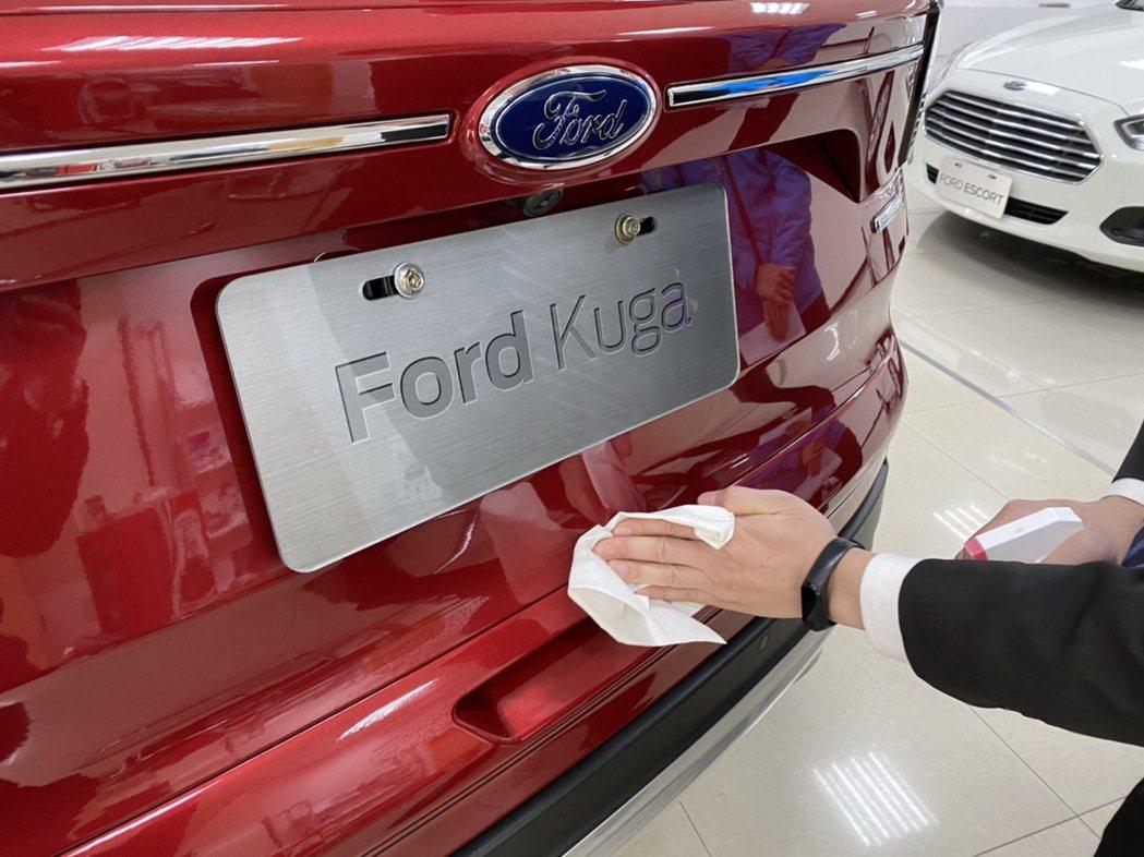 Ford建議車主於可針對使用者頻繁接觸的車輛部件例如內外門把定期進行清潔與消毒。...