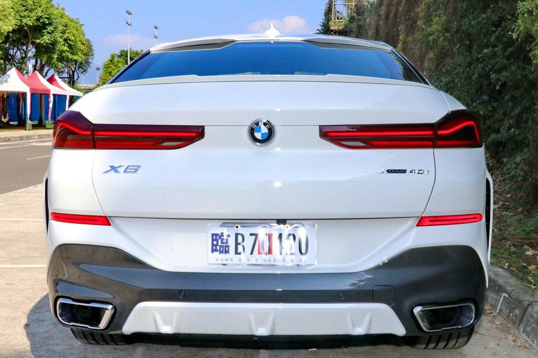 車尾則堪稱是全新X6的亮點所在。 記者陳威任/攝影