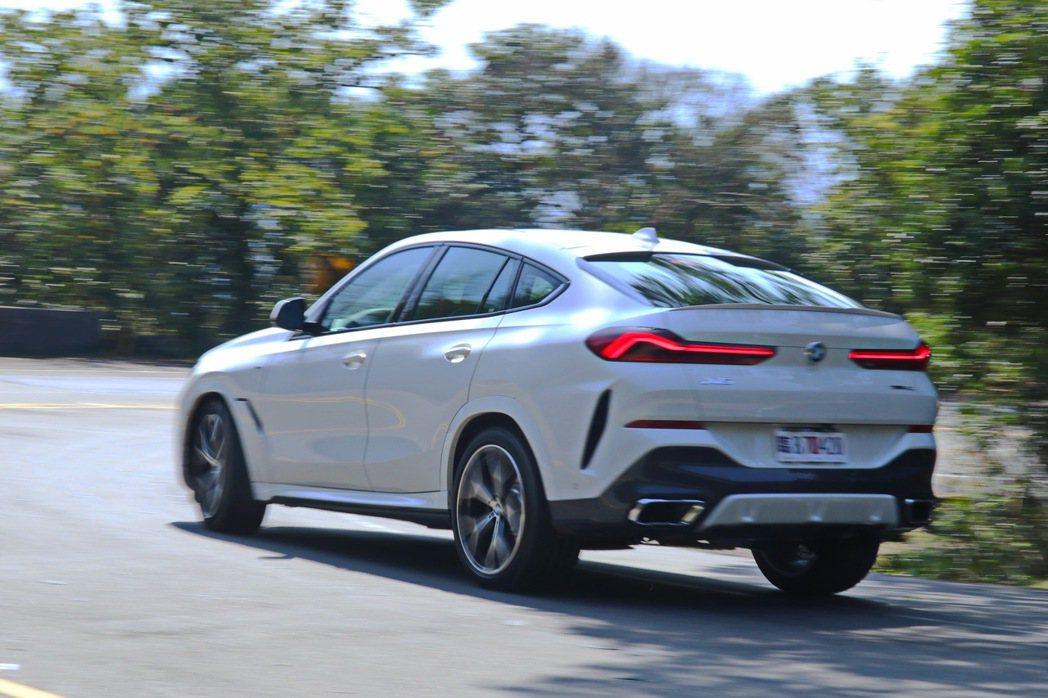 BMW X6 xDrive40i M Sport擁有十分俐落的身手,就像是跑車般...
