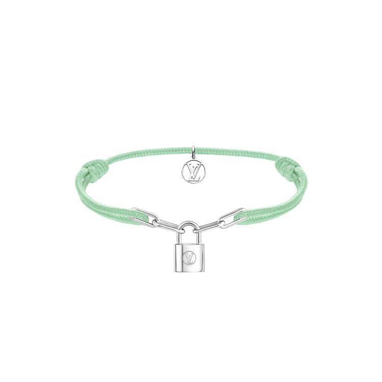 路易威登Silver Lockit手鍊青瓷綠款,13500元。圖/路易威登提供