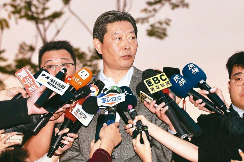 李辦主任王燕軍昨天說明前總統李登輝目前「穩定、緩慢恢復中」。 記者林伯東/攝影