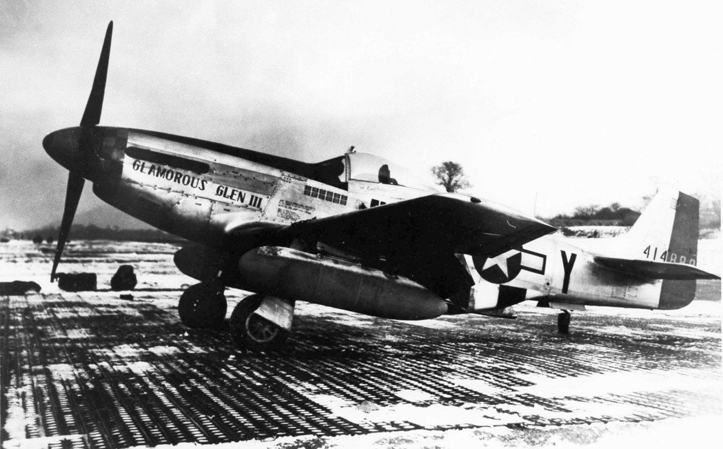 葉格的P-51座機「迷人的葛蘭三世」,他的戰功多半在這架飛機上創下。圖/美國空軍...