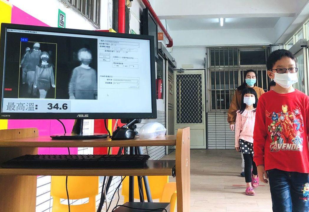 雲林麥寮鄉幼兒園裝設紅外線熱像儀。圖/麥寮鄉公所提供