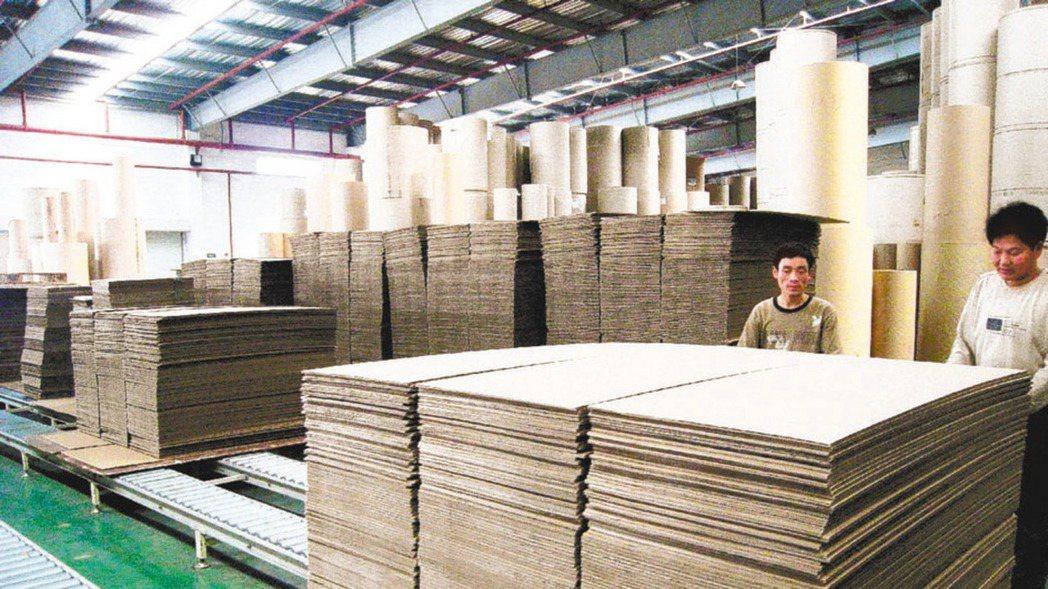 造紙類股示意圖。 本報系資料庫
