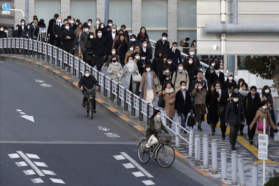 日本出現第四例新冠肺炎死亡病例。(美聯社)