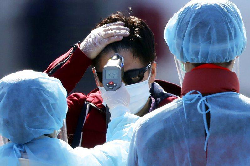 北海道4月確診病例再度上升,多處發生群聚感染。 美聯社