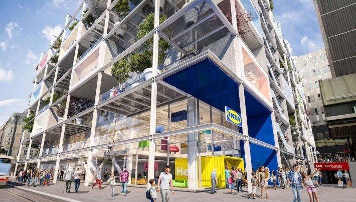 兼具環保與美觀的 IKEA 維也納分店。 圖/摘自IKEA官網