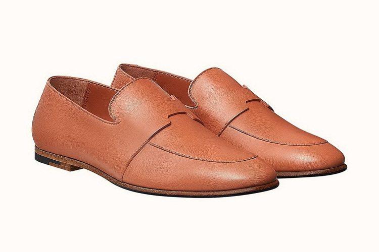 Ancora 系列山羊皮莫卡辛鞋 NT$ 28,700。 圖/愛馬仕 提供