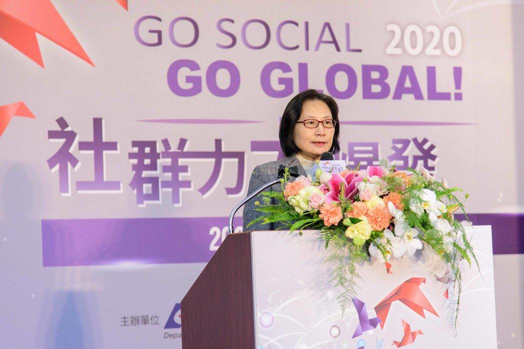 ▲經濟部商業司司長李鎂勉勵與會業者,國際疫情顯現了跨境電商的經營對於台灣的發展尤...