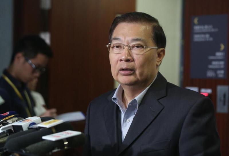 香港的大陸全國人大常委譚耀宗。取自文匯網