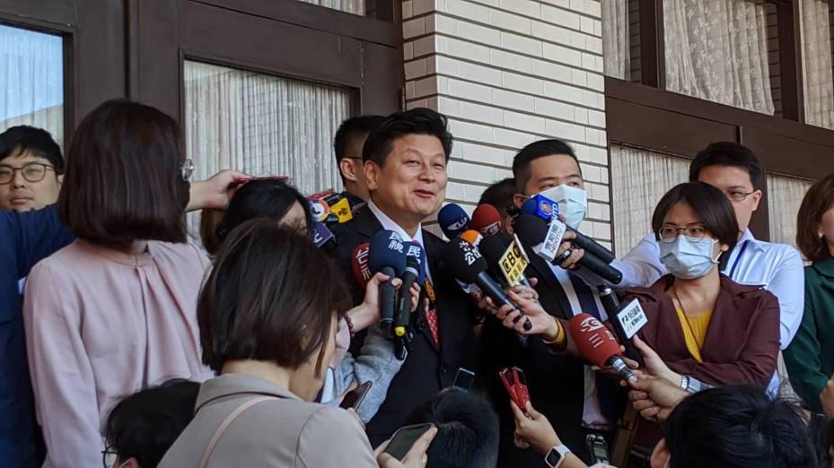 無黨籍立委傅崐萁在恢復國民黨籍案爭議後首次露臉。記者蔡佩芳/攝影