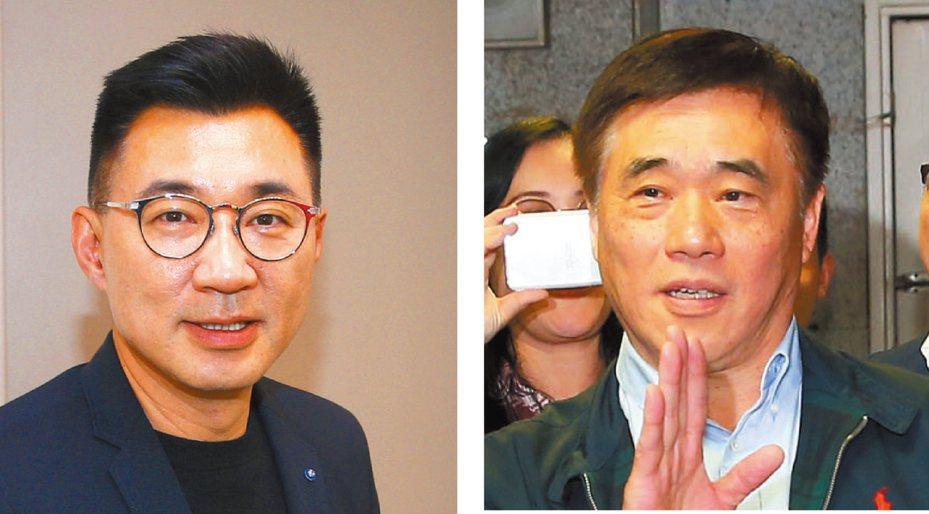 國民黨黨主席補選,由立委江啟臣(左)與國民黨前副主席郝龍斌(右)競爭。 圖/聯合報系資料照片