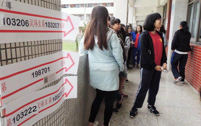 109年大學學測成績今天公布,台東高中、台東女中兩校都說,學生表現比去年好。本報資料照片