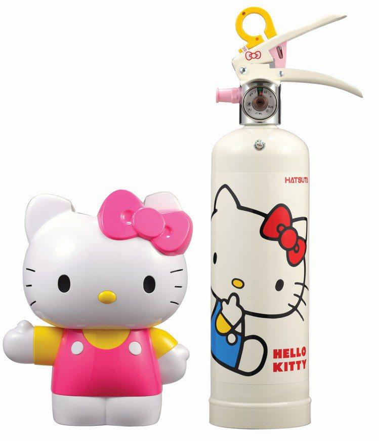 Hello Kitty強化液滅火器組,憑icash價結帳享3,990元優惠價。圖...