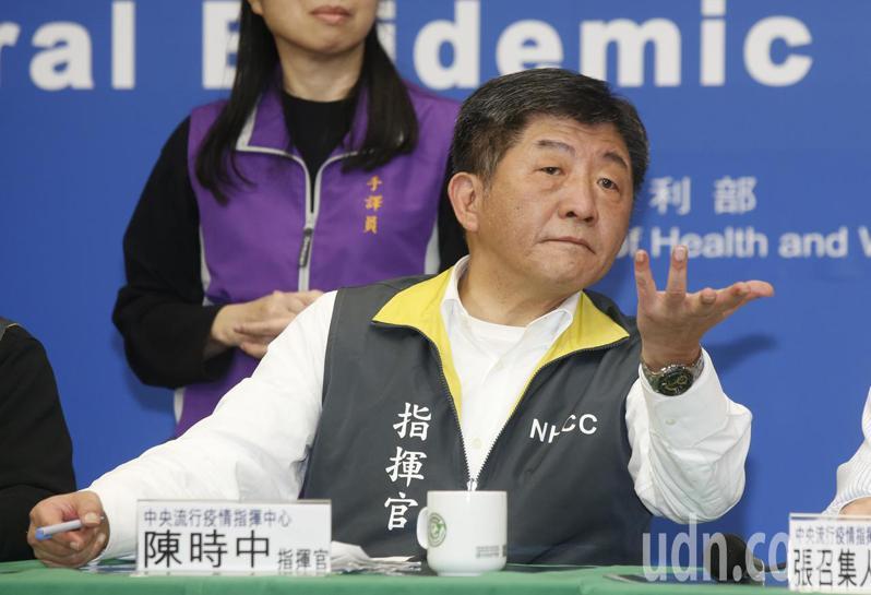 指揮中心指揮官陳時中今天表示,兩國案件數差很多,發展速度也差很多。聯合報記者鄭超文/攝影