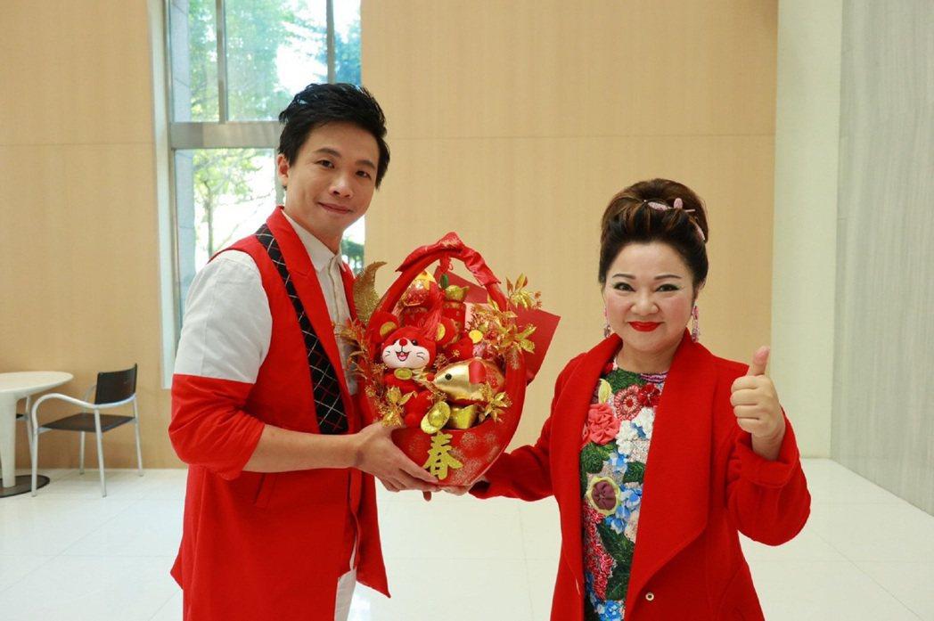 陳思瑋(左)簽進白冰冰的冰冰家族。圖/長興影視提供