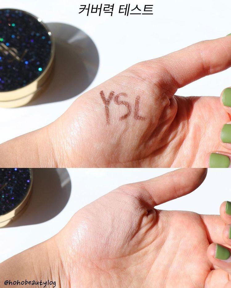 YSL恆久完美氣墊粉餅,遮瑕力超強,但又沒有厚重粉感。圖/摘自IG