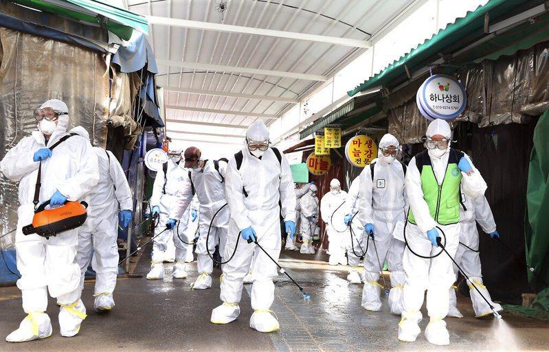 南韓新冠肺炎疫情升溫。  美聯社